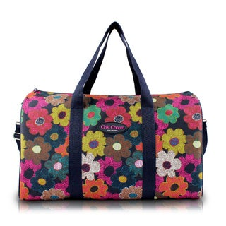Jacki Design Chic Charm Floral 18-inch Carry-on Duffel Bag