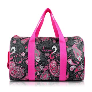 Jacki Design Chic Charm Pink Nylon 18-inch Carry-on Duffel Bag