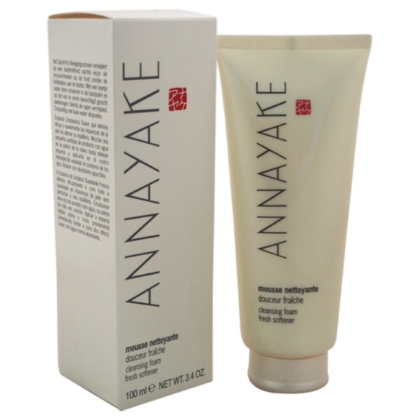 Annayake Fresh Softener 3.4-ounce Cleansing Foam for Dry Skin/Combination Skin