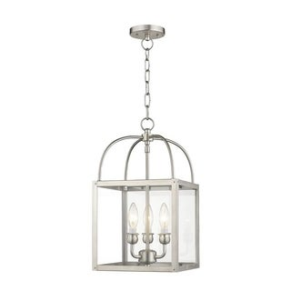 Livex Lighting Milford Brushed Nickel 3-light Convertible Chain-hang/Ceiling Mount
