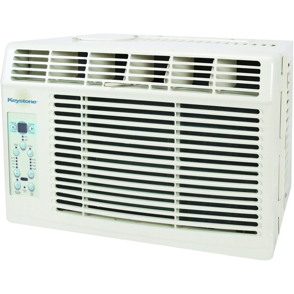 Keystone KSTAW06B 6,000 BTU 115-volt Window-mounted Air Conditioner with Follow Me LCD Remote Control