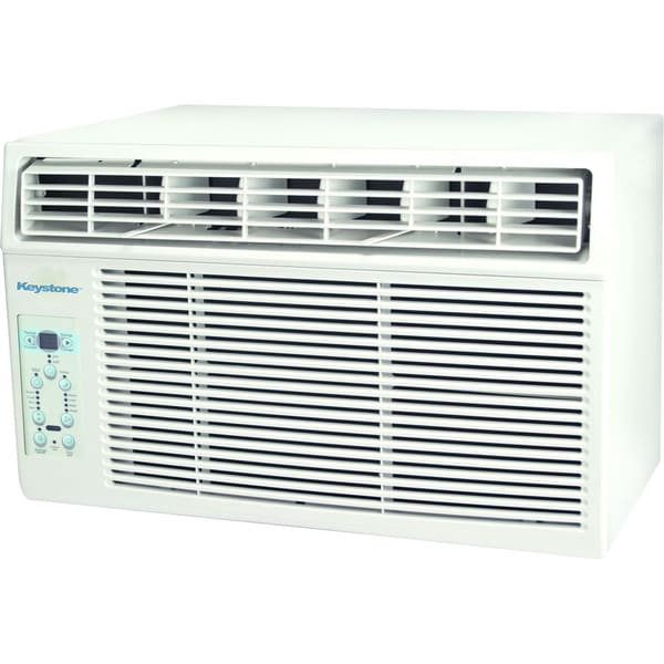 Keystone White 115V Window-mounted Air Conditioner with Follow Me LCD Remote Control