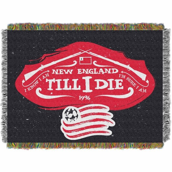 Multi-color Polyester New England Revolution Tapestry Throw Blanket