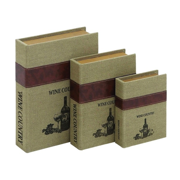 Natural Burlap Durable Weather Resistant Book Boxes (Pack of 3)