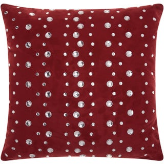 Mina Victory Luminescence Raindrops Burgundy Throw Pillow by Nourison (20 x 20-inch)