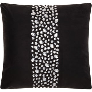 Mina Victory Luminescence Center Stones Black Throw Pillow by Nourison (20 x 20-inch)