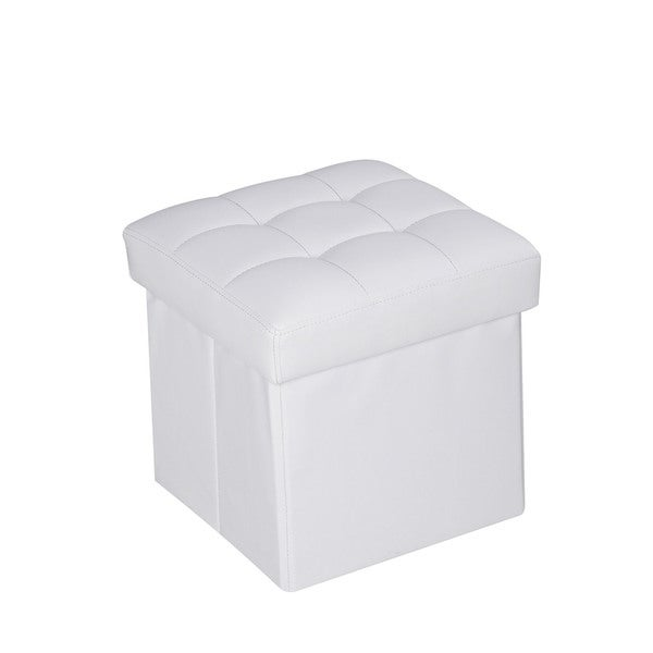 Kori White PU Ottoman with Storage