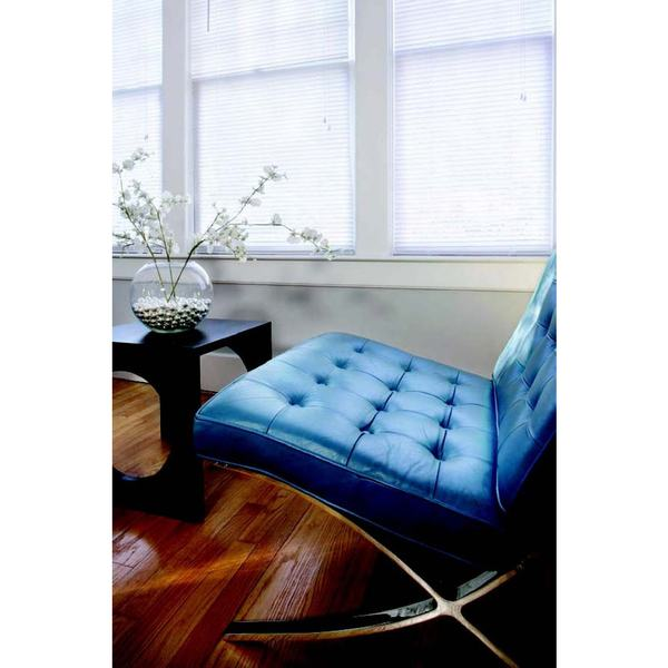 White Vinyl 1-inch Blind for 51- to 60-inch Windows