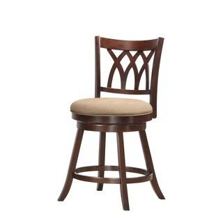 Tabib Fabric Counter Height Swivel Chair Swivel