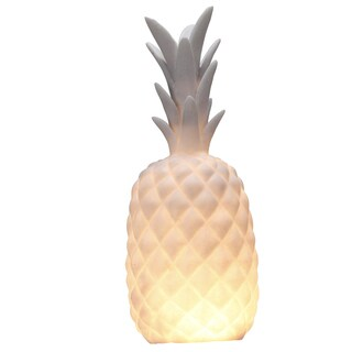 Resin 7-inch x 17-inch Pineapple Tea Light Holder