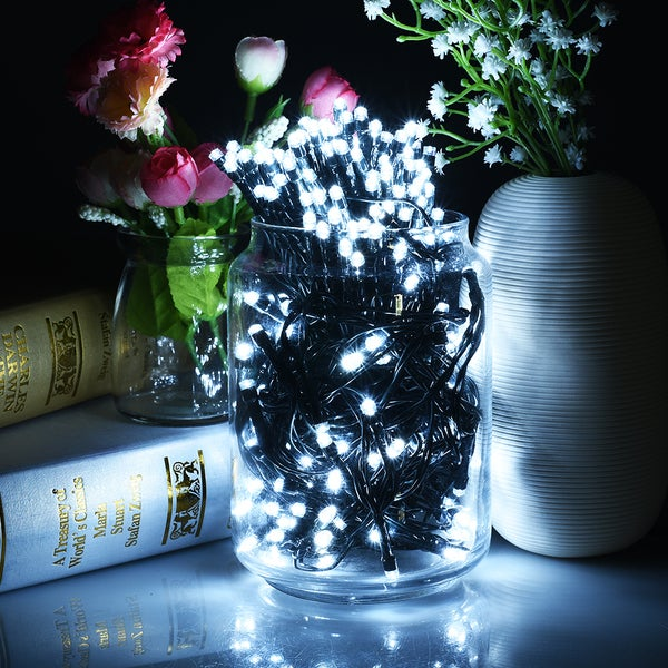 Solar Powered 200 LED Eight-mode Waterproof Decorative String Lights