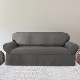 CoverWorks Bayside Polyester Relax Fit Wrap Sofa Slipcover