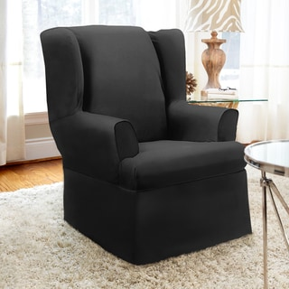 CoverWorks Dorchester 1-piece Relaxed Fit Wing Chair Slipcover