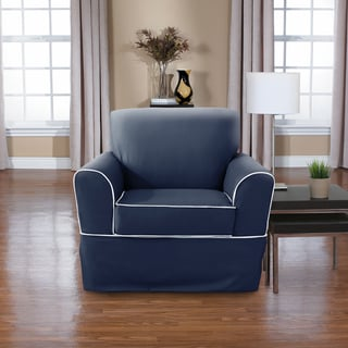 CoverWorks Westport 2-piece Wrap Relaxed Fit Chair Slipcover