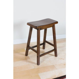 Gaucho Walnut Brown Rubberwood Counter-height Stool (Set of 2)