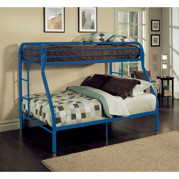 Tritan Blue Metal Twin XL over Queen Bunk Bed