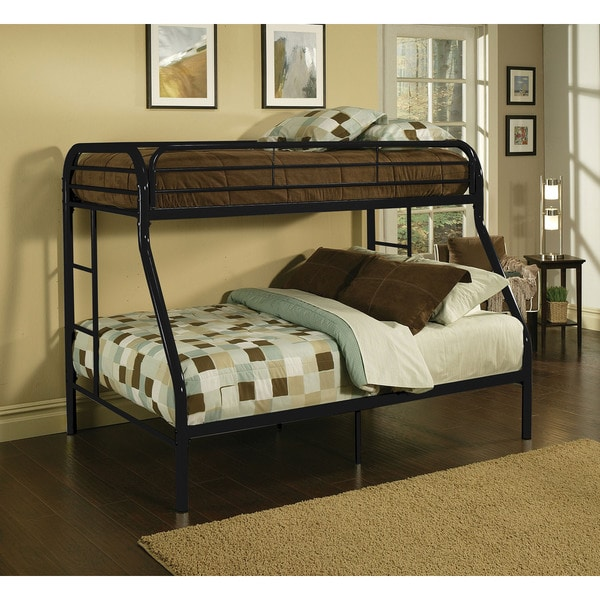 Tritan Black Metal Twin Over Full Bunk Bed