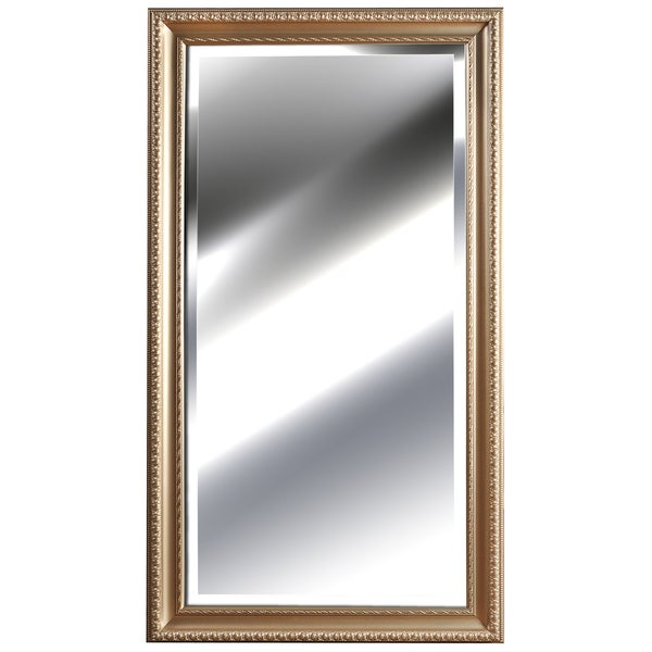 Pinnacle Champagne Embossed Framed Mirror