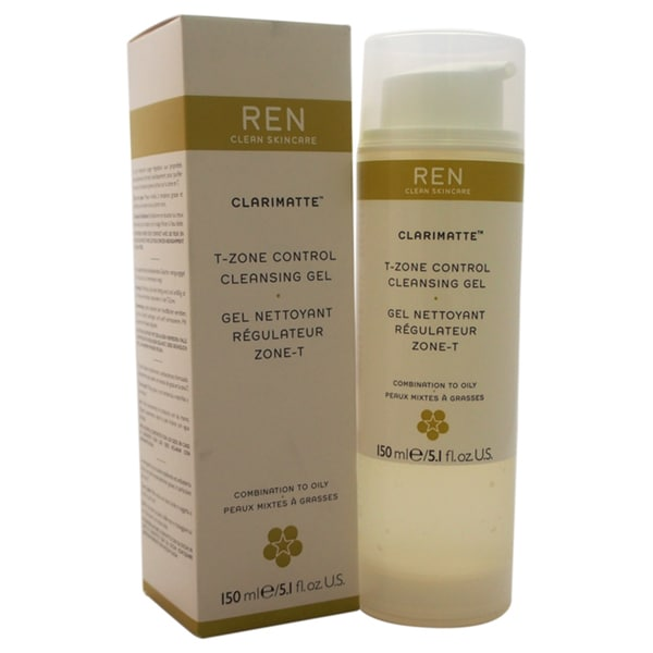 REN Clarimatte T-Zone Control 5.1-ounce Cleansing Gel Combination to Oily Skin