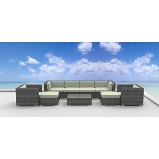 Urban Furnishing Fiji 9-piece Modern Outdoor Backyard Wicker Rattan Patio Furniture Sectional Sofa Set