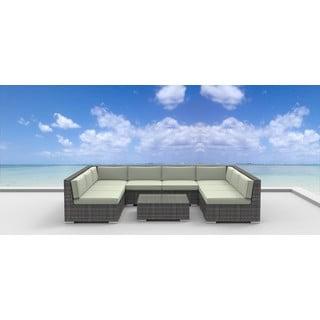 Urban Furnishing Tahiti Backyard Wicker Rattan 9-piece Patio Set
