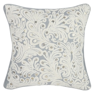 Kosas Home Colgate Storm and Ivory 18-inch x18-inch Throw Pillow