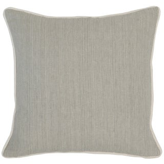 Kosas Home Aiden Grey Linen/Cotton Feather- and Down-filled 18-inch Throw Pillow