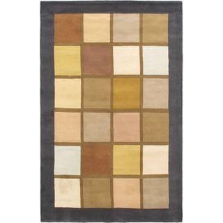 eCarpetGallery Versailles Brown/Grey Wool/Cotton Handmade Rug (5' x 8')