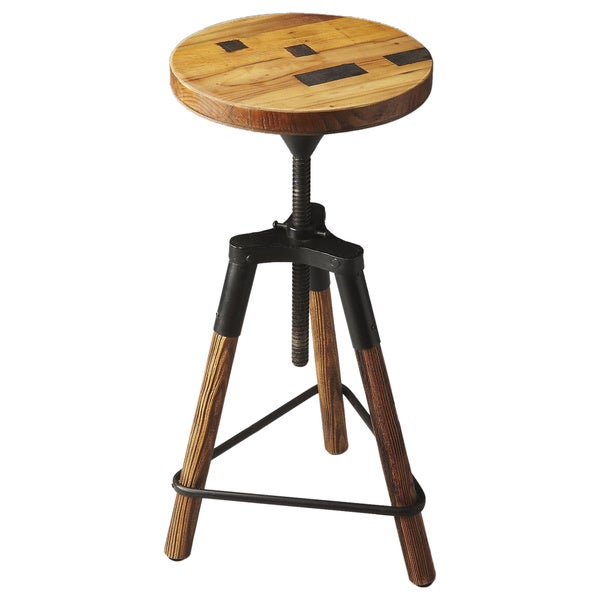 Butler Hinton Reclaimed Wood Revolving Bar Stool