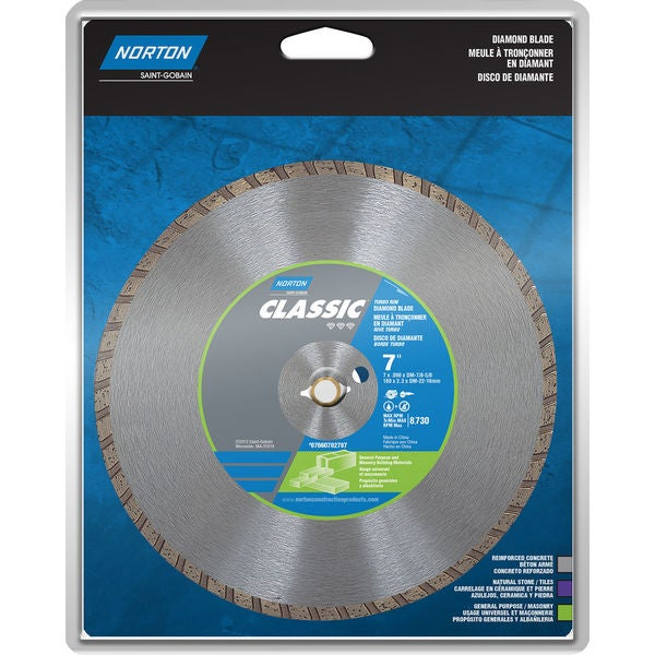 "Norton 02787 7"" Turbo Rim General Purpose Saw Blade"