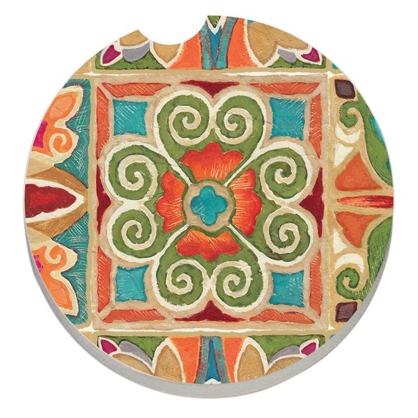 Counterart Absorbent Stone Car Coaster Gypsy (Set of 2)