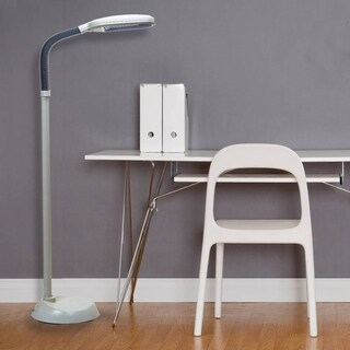 Tensor Beige Plastic 55-inch Natural Daylight Full Spectrum Floor Lamp
