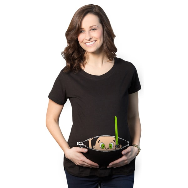 Maternity Peeking Jedi Baby T-shirt