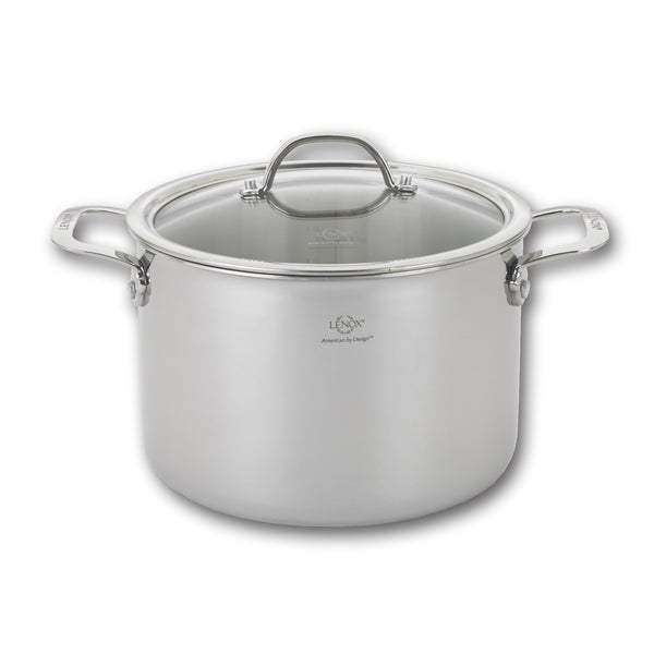 Tri-ply Stainless Steel 8-quart Stock Pot and Lid 19268337