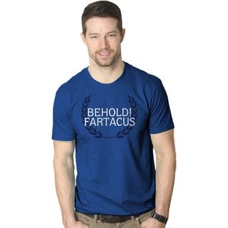 """Men's """"Behold Fartacus"""" Funny Fart Award T-shirt"""