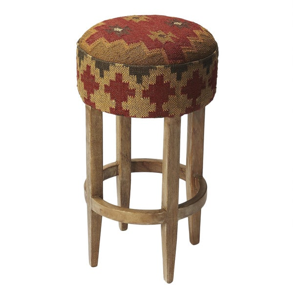 Butler Las Cruces Kilim Pouffe Bar Stool