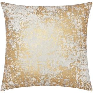 Mina Victory Luminescence Distressed Metallic Gold Throw Pillow by Nourison (20 x 20-inch)