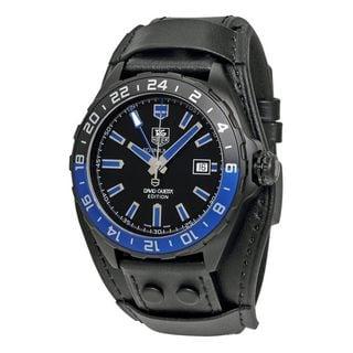 Tag Heuer Men's WAZ201A.FC8195 'Formula One David Guetta' Automatic Black Leather Watch