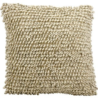 Mina Victory Lifestyle Heavy Single Loop Ivory/Grey Throw Pillow by Nourison (20 x 20-inch)
