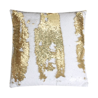 Melody Mermaid Reversible Sequin 20-inch Feather-filled Pillow