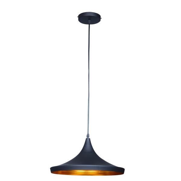 Berkley Black and Gold Single-light Pendant