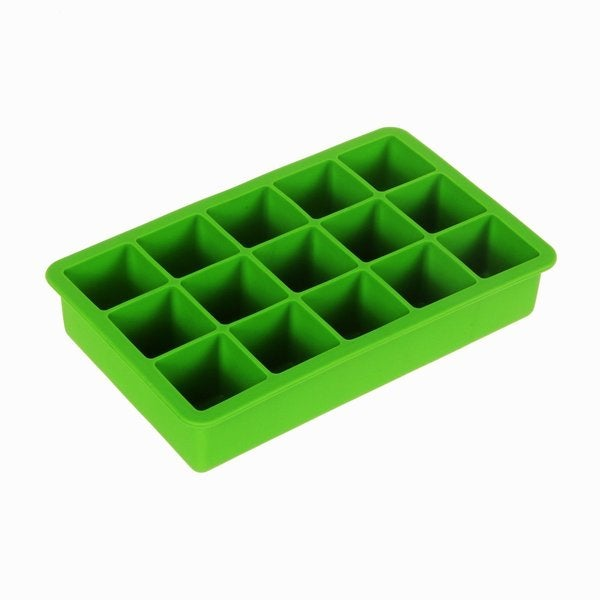 Tovolo Perfect Cube Spring Green Silicone Ice Cube Trays (Set of 2)