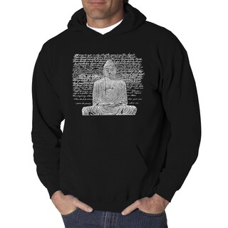 Los Angeles Pop Art Men's Zen Budda Black/Grey Cotton/Polyester Hooded Sweatshirt