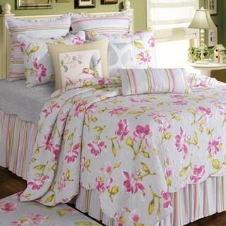 Liliann White Floral Cotton Quilt