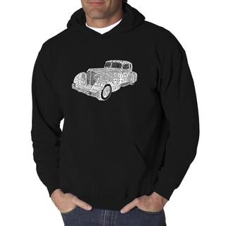 Los Angeles Pop Art Men's Mobsters Black Cotton/Polyester Hooded Sweatshirt