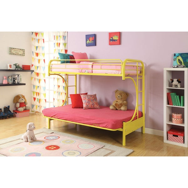 Eclipse Yellow Twin/Full/Futon Bunk Bed