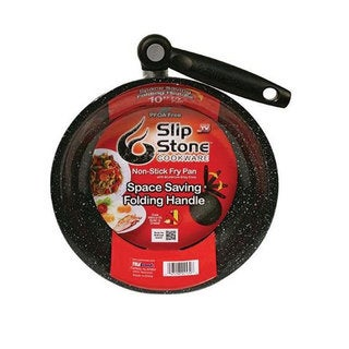 As Seen on TV Black Aluminum 10-inch Slip Stone Cookware Non-stick Fry Pan