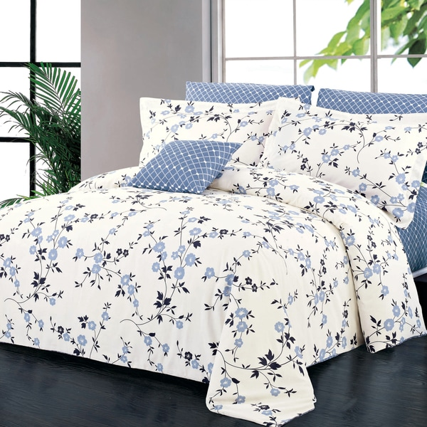 North Home Adelaide 100 Percent Cotton 4-piece Duvet Cover Set