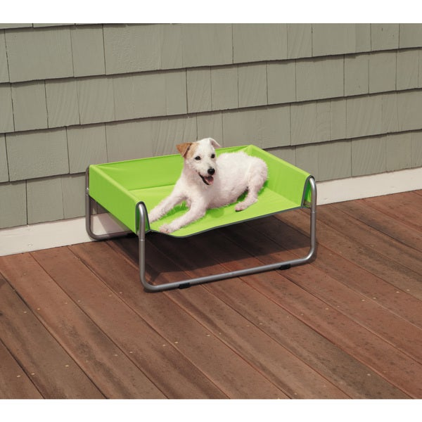 Grey/Green Insect Shield Dog Cot