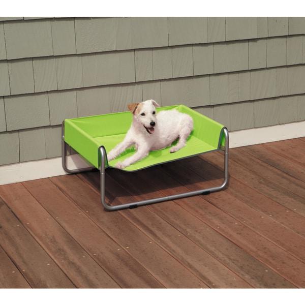 Grey/Green Insect Shield Dog Cot